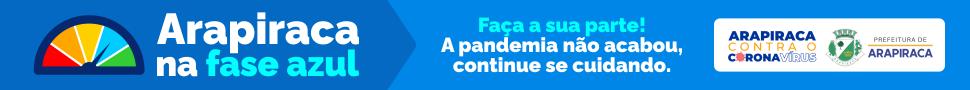 Prefeitura de Arapiraca - Novembro - Contra o Corona Vírus - Fase Azul - topo da página