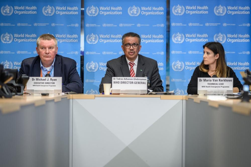 Diretor-geral da OMS declara pandemia por coronavírus — Foto: Fabrice Coffrini/AFP