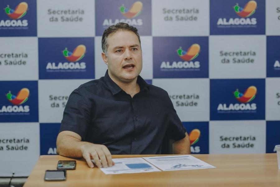 Governador reforça a necessidade da manutenção do isolamento social para achatar a curva de crescimento do vírus em Alagoas / Márcio Ferreira