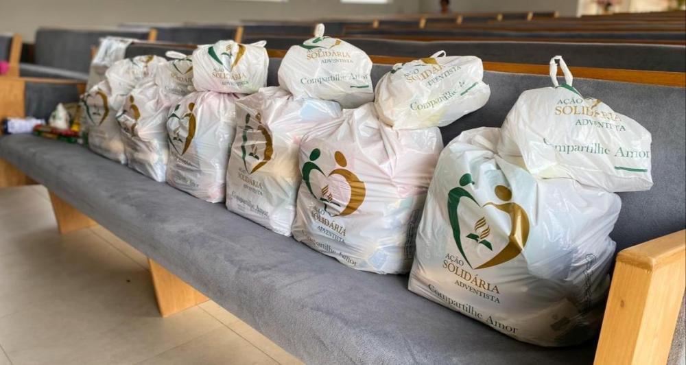 Covid-19: Adventistas no centro sul de SC doam 12 toneladas de alimentos em sábado solidário