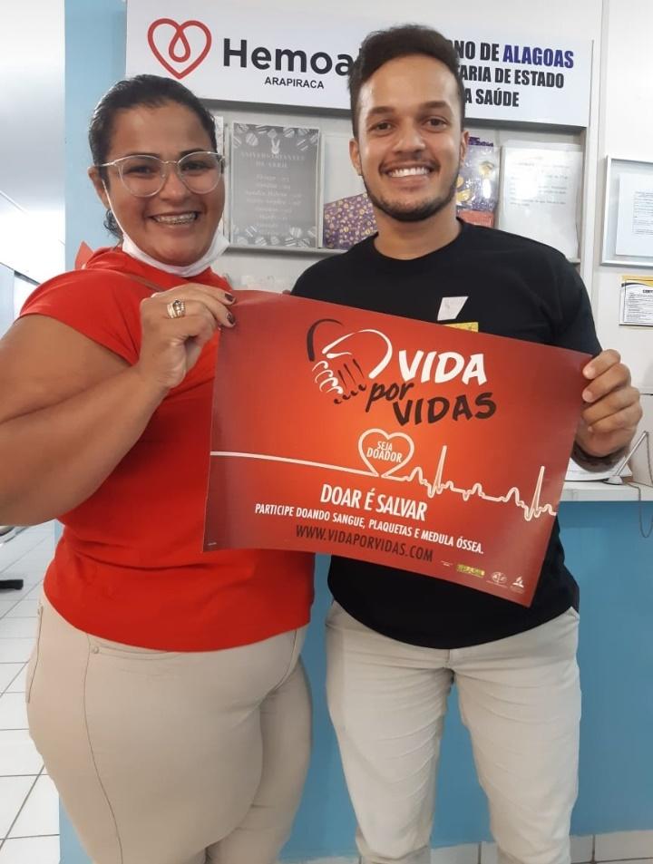 Hemoal Arapiraca e Jovens Adventistas realizam mais uma campanha de doação de sangue