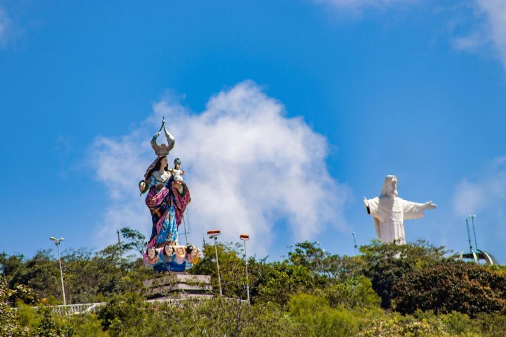 Visitas ao Santuário Mãe do Amparo e Cristo Redentor estão suspensas até domingo (12)