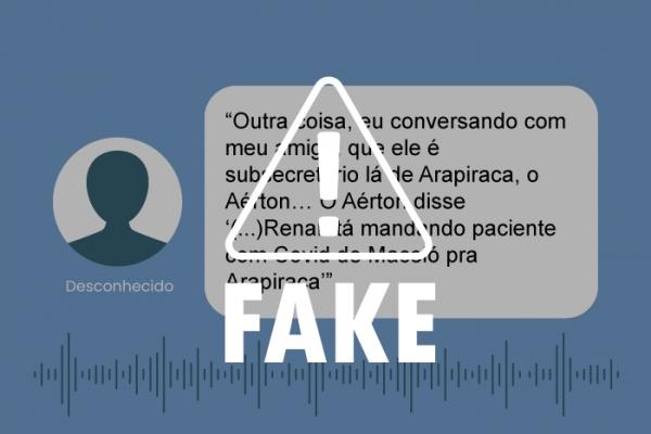 É falso áudio sobre transferência de pacientes para Arapiraca e superlotação do HGE