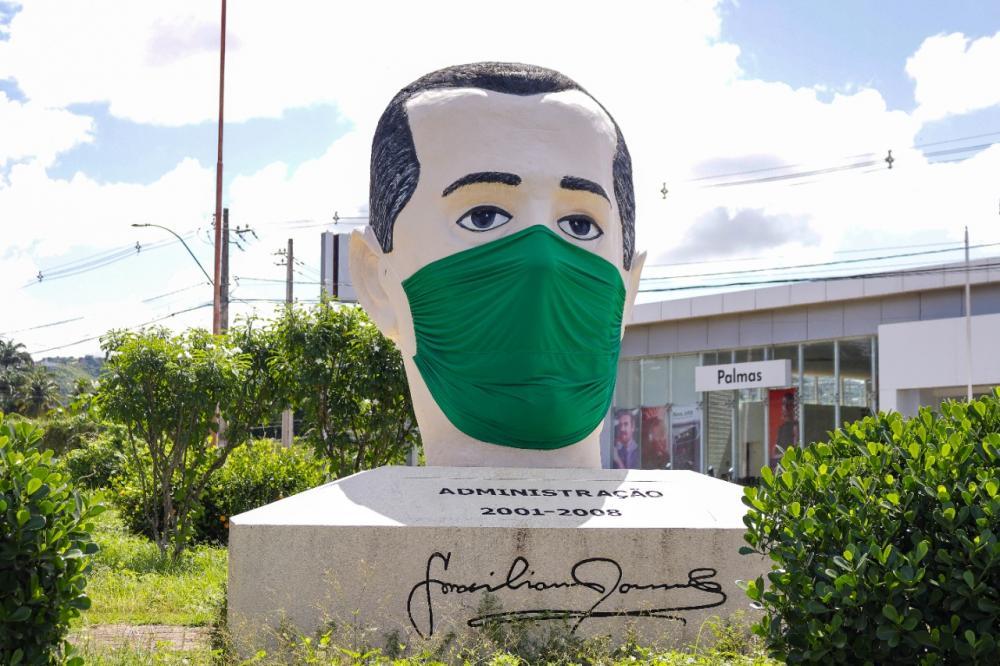 Monumentos de Palmeira dos Índios recebem máscaras de proteção