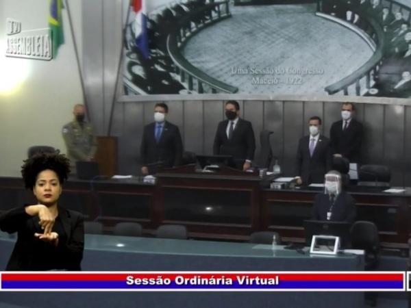 ALE faz 1 minuto de silêncio pelas vítimas da Covid e cobra ações e cooperação