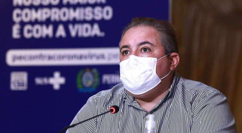 Secretário de Saúde, André Longo, pede que os municípios do Agreste cumpram a quarentena mais rígida - FOTO: HÉLIA SCHEPPA/SEI