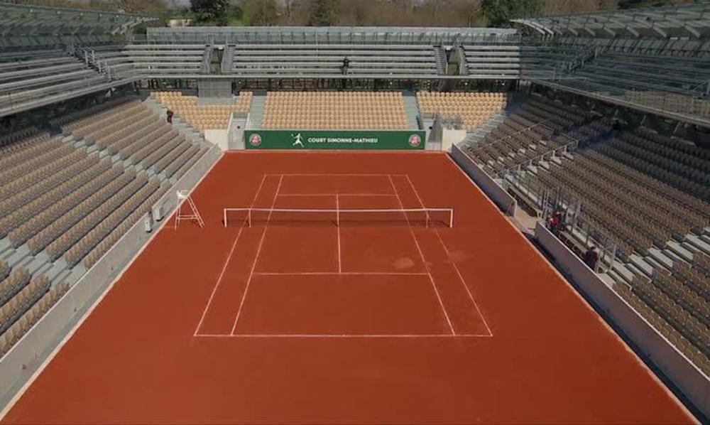 Roland Garros terá público limitado a 60% da capacidade do estádio