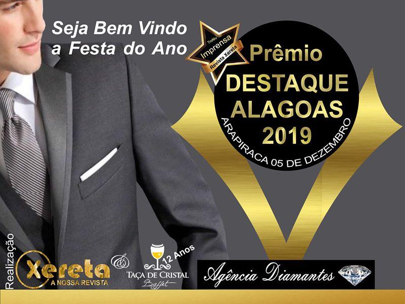 Prêmio Destaque Alagoas homegeia personalidades que se destacam em 2019
