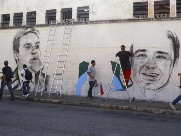 Apresentador falecido ainda este ano ganhará um mural grafitado em sua homenagem FOTO: Reprodução/TV Record