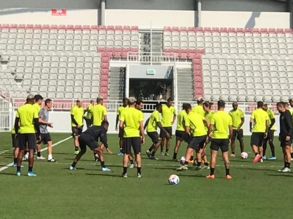 Flamengo faz o último treino antes da final do Mundial FOTO: Cahê Mota