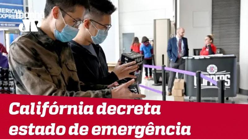 Califórnia decreta estado de emergência por coronavírus